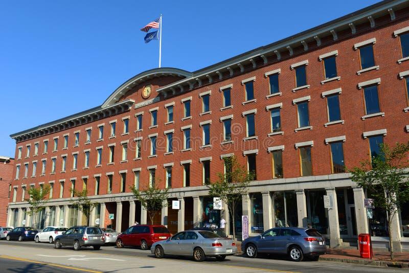Portland Thomas Block, Maine, de V.S. royalty-vrije stock foto's