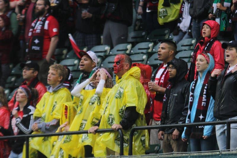 Portland Thorns fans stock photo