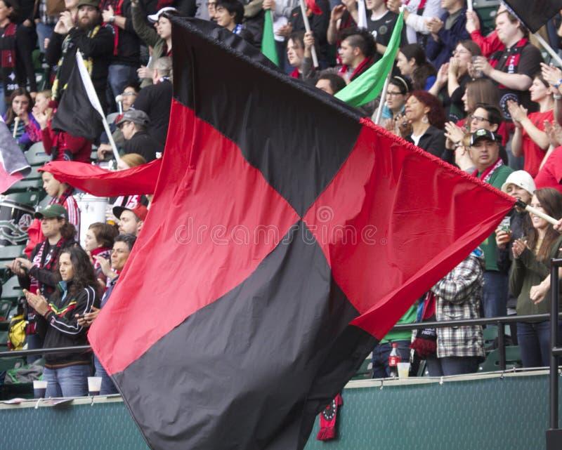 Portland Thorns flag stock photo