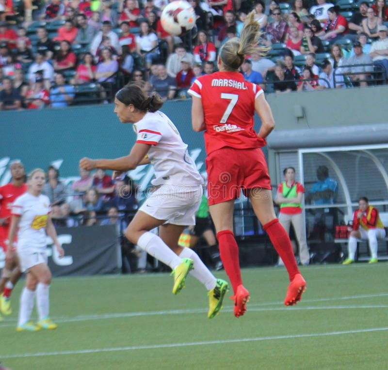 Portland Thorns vs NY Rush. New York Rush killed the Thorns 5-0 stock photo