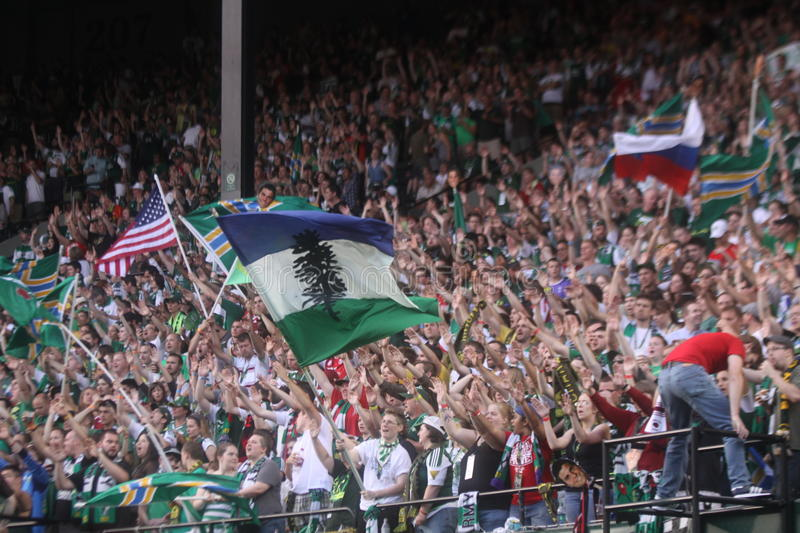 Portland Timbers Army Editorial Stock Image