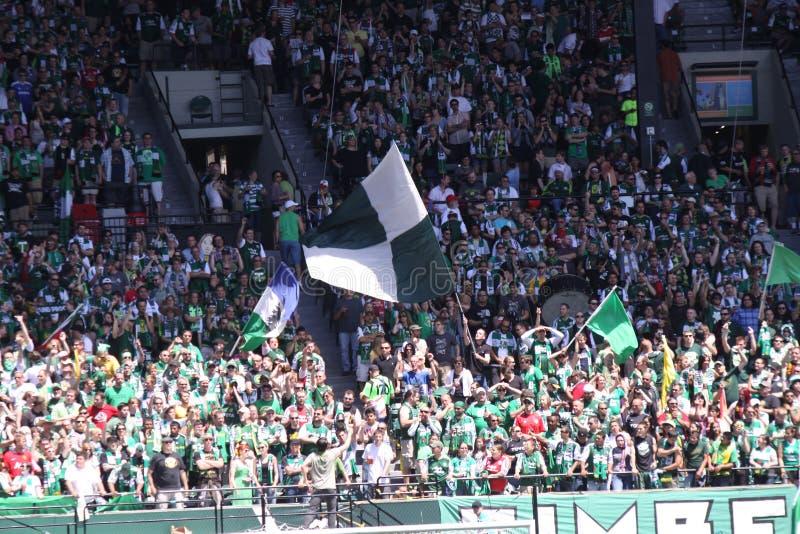 Portland Timbers Major League soccer crowd stock photography