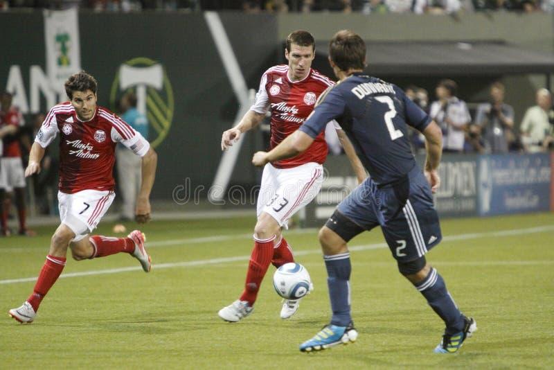 Portland Timbers vs LA Galaxy stock photography