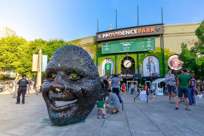 Portland Timbers vs San Jose Earthquakes, U.S. Open Cup, held at Providence Park in Portland on June 6, 2018 royalty free stock photos