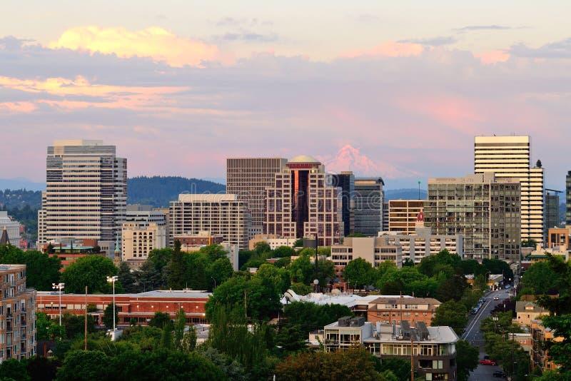 Download Portland Vista stock photo. Image of mountain, sunset - 33273526