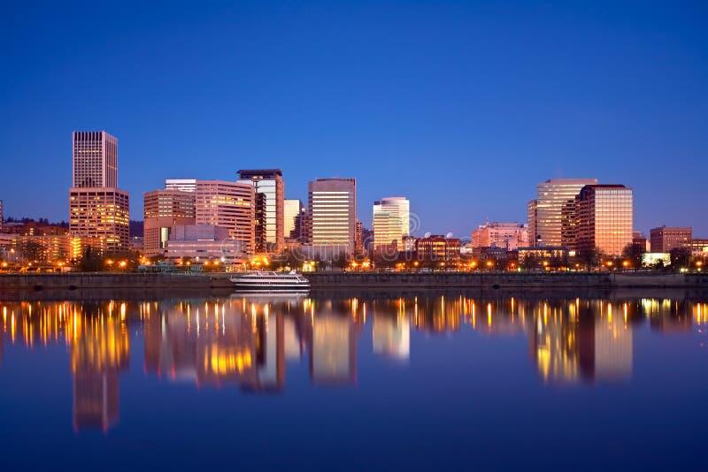Portland Waterfront Sunrise stock image