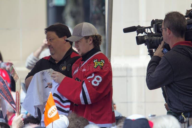 Portland Winterhawks Ice Hockey Player Signing Autographs stock image