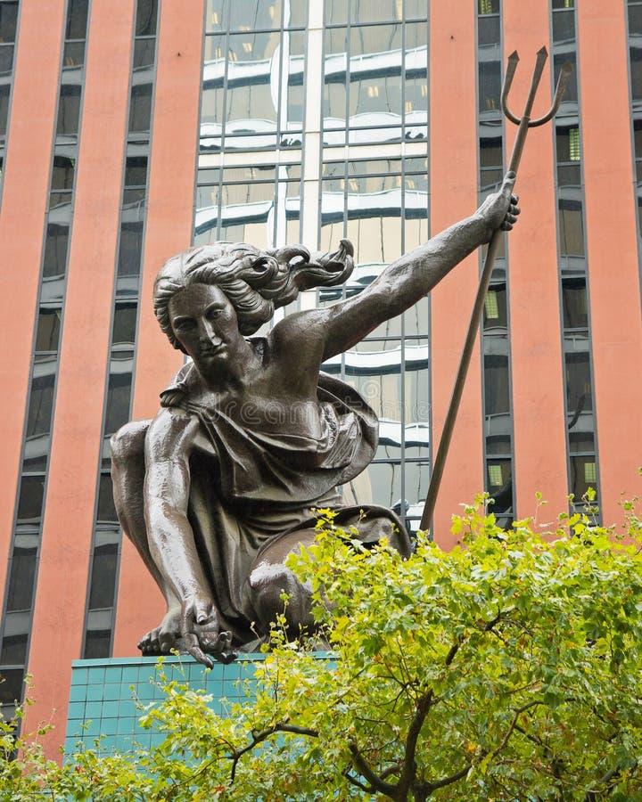 Portlandia statua, Portland Oregon zdjęcie stock