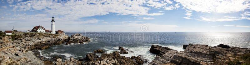 Portlandzka latarni morskiej panorama obrazy stock