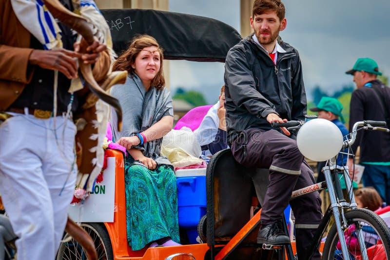 Portlandzka Uroczysta Kwiecista parada 2017 obraz royalty free