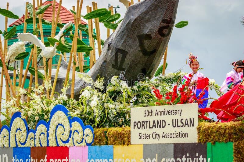 Portlandzka Uroczysta Kwiecista parada 2017 obrazy royalty free