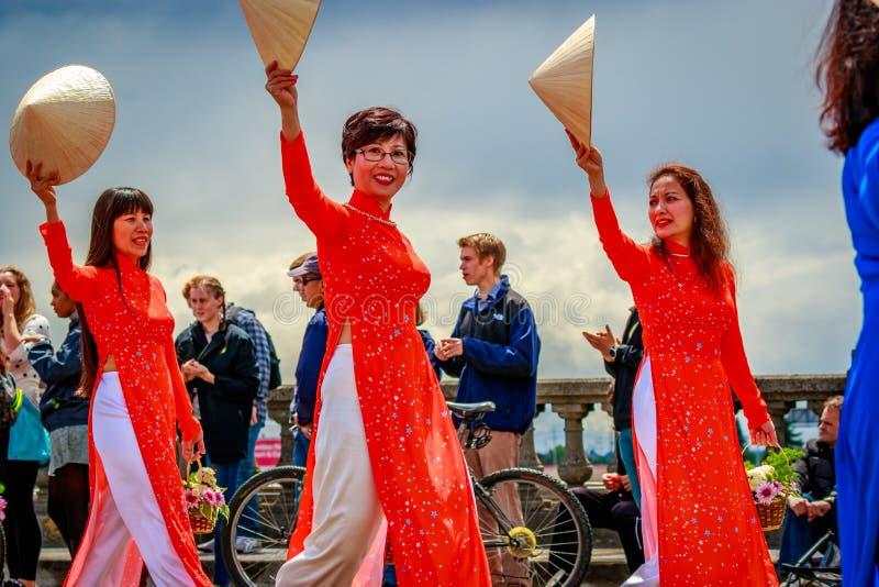 Portlandzka Uroczysta Kwiecista parada 2017 zdjęcia royalty free