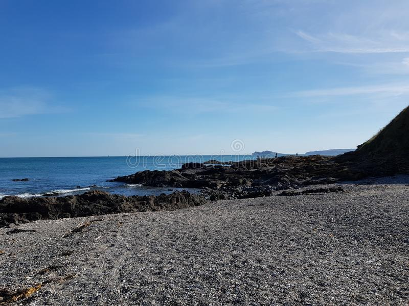 Portmanock plaża w Dublin, Irlandia zdjęcia stock