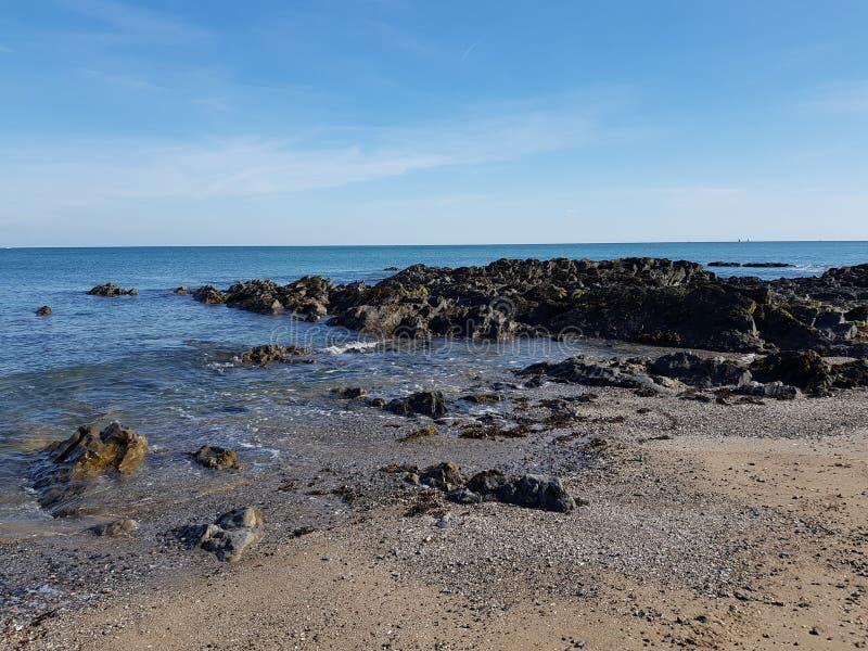 Portmanock plaża w Dublin, Irlandia fotografia stock