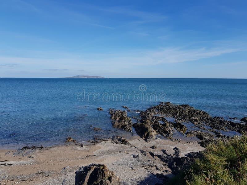 Portmanock plaża w Dublin, Irlandia fotografia royalty free
