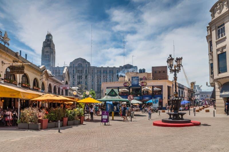 Portmarknad - Mercado del puerto - Montevideo Uruguay arkivbild