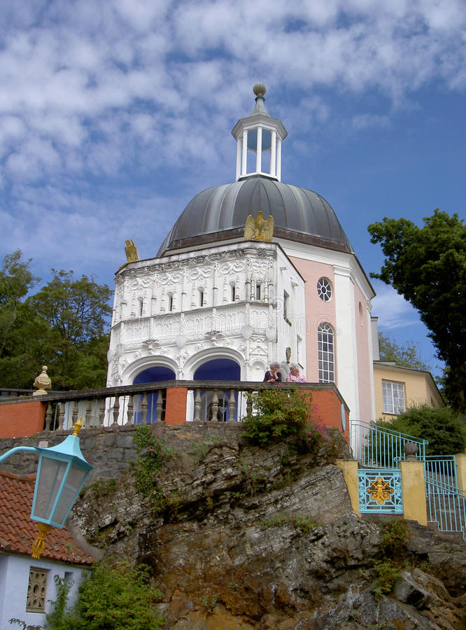 Portmeirion Clifftop and Grotto North Wales stock images