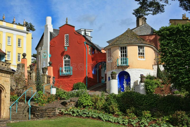 Portmeirion North Wales. United Kingdom. Sir Clough Williams-Ellis, Portmeirions designer, denied repeated claims that the design was based on the fishing stock photo