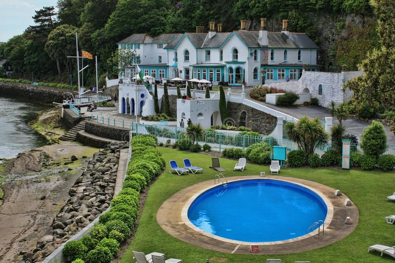 Portmeirion North Wales stock image