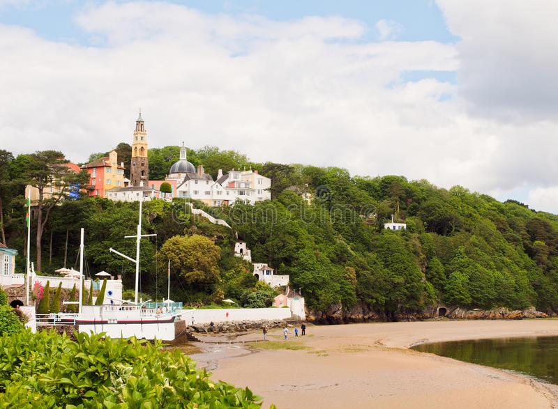 Download Portmeirion Village And Beach, Wales Royalty Free Stock Image - Image: 25218346