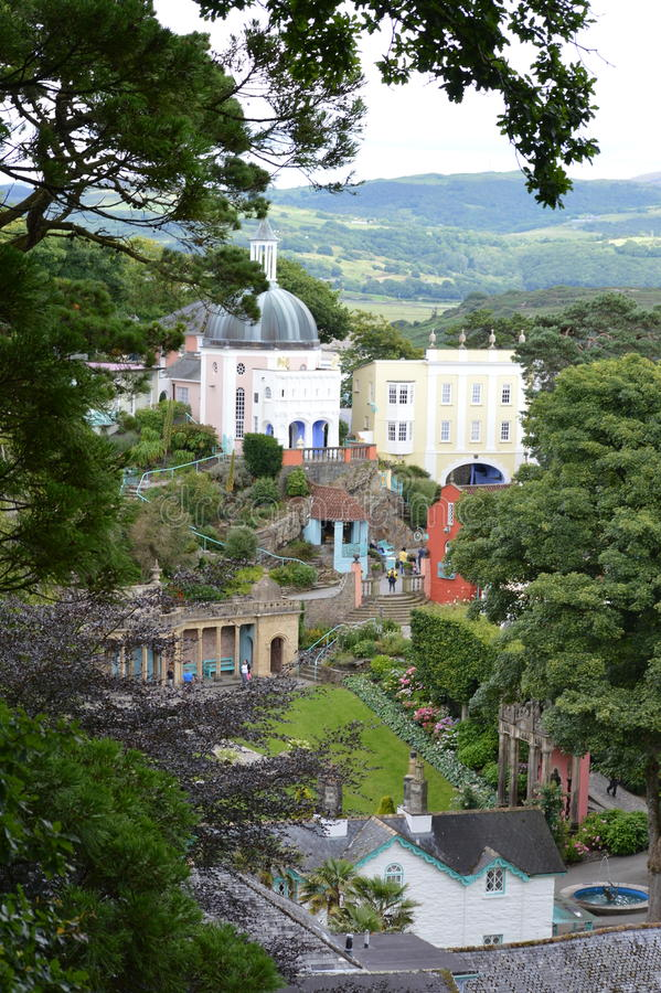 Download Portmerion Village In Wales Stock Photo - Image of gwynedd, england: 91012870