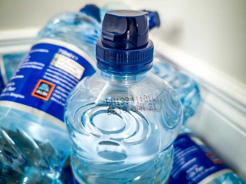 This batch number is part of the second recall by the FSAI for bottled water due to above normal arsenic levels. PORTNOO, COUNTY DONEGAL , IRELAND - AUGUST 03 royalty free stock images
