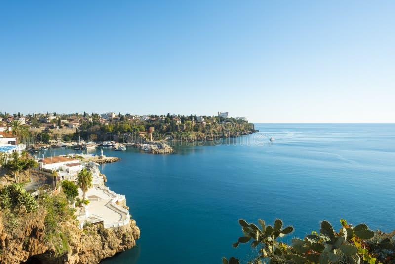 Porto áspero Meditteranean Antalya H do litoral foto de stock royalty free
