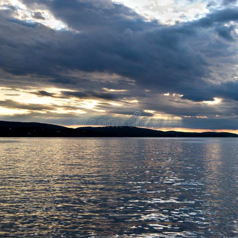 Porto al tramonto, Maine della barra fotografie stock libere da diritti