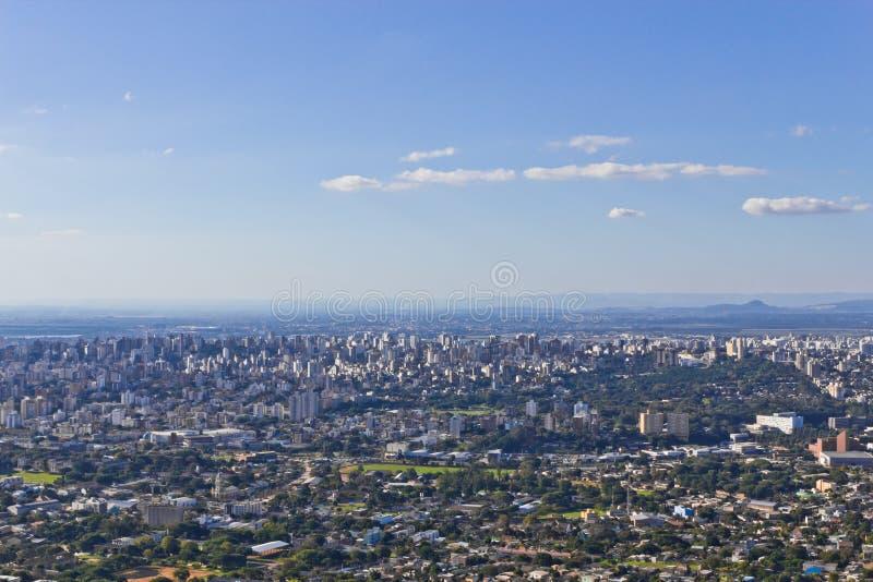 Porto Alegre cityview arkivfoto
