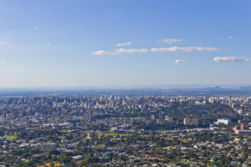 Porto Alegre cityview stock photo