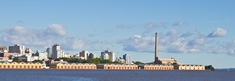 Porto Alegre port royaltyfria foton