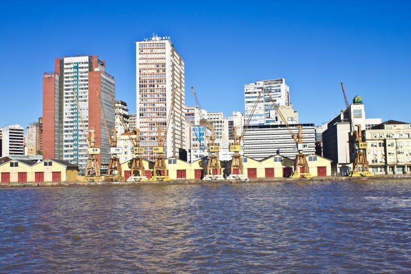 Porto Alegre Port - Rio Grande do Sul - Brasilien royaltyfria bilder