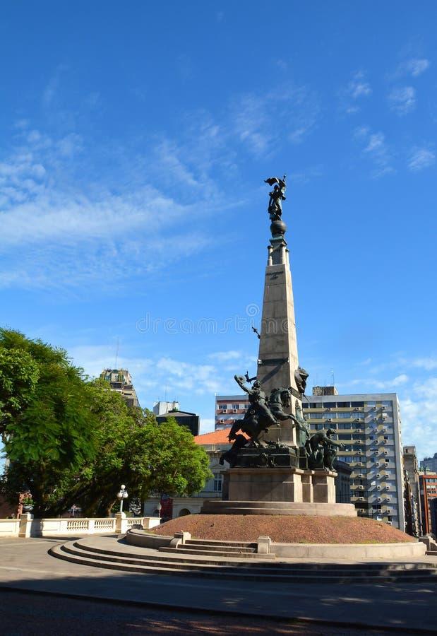 Porto ALegre, Rio Grande do Sul, Brasile - 20/12/2019 - centro di Matriz Square Praça da Matriz, Porto Alegre fotografia stock libera da diritti