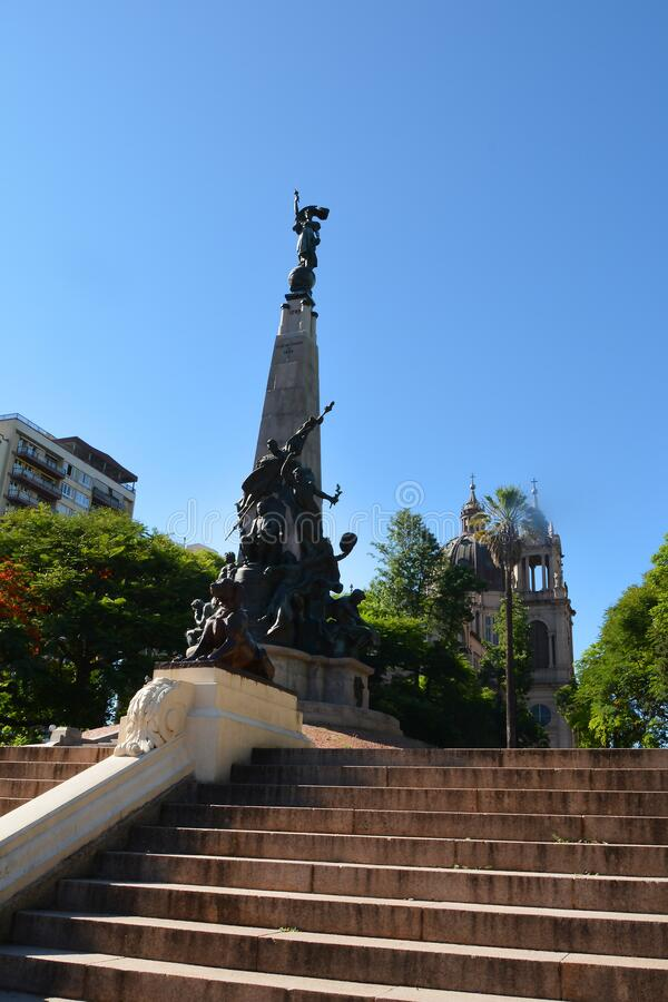 Porto ALegre, Rio Grande do Sul, Brasilien - 20/12/2019 - Matriz Square Praça da Matriz , Porto Alegre arkivfoto