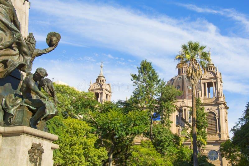 Porto Alegre, rio grande robi Sul, Brazylia: Wielkomiejska katedra Nasz damy matka bóg fotografia royalty free