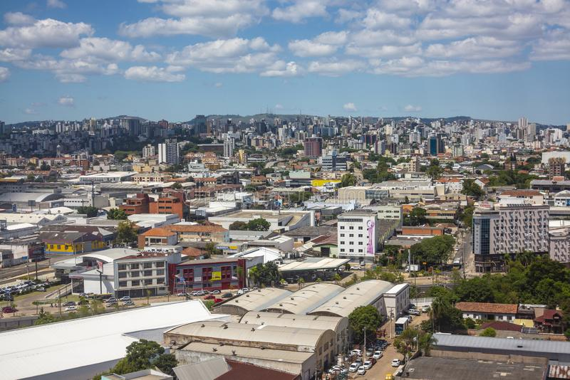 aerial view of Porto Alegre in Brazil royalty free stock image