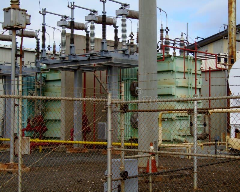 Porto Allen Power Plant su Kauai, Hawai, U.S.A. fotografia stock libera da diritti
