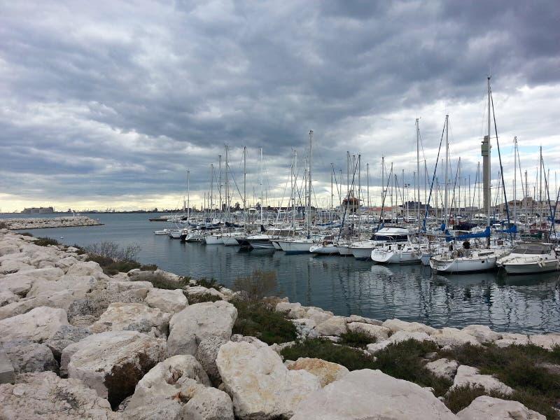 Porto antes da tempestade foto de stock
