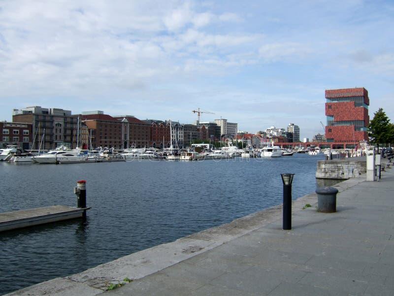 Porto Anversa Belgio fotografie stock