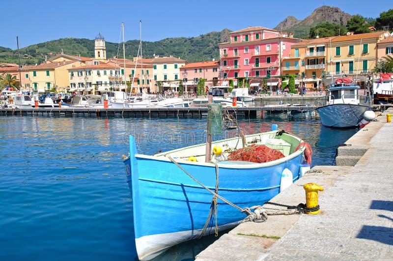 Porto Azzurro auf der Insel von Elba lizenzfreies stockfoto