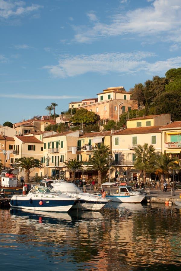 Porto Azzurro At Sunset royalty free stock images