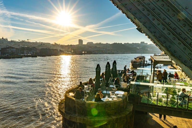 Porto Bar Ponte Pensil imágenes de archivo libres de regalías