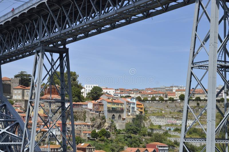 Porto through the Bridge royalty free stock image