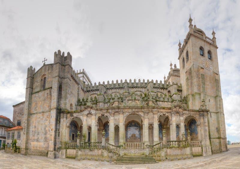 Porto cathedral Se do Porto stock photos