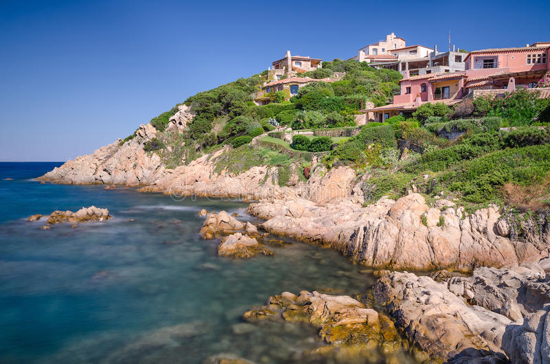 Porto Cervo, Sardinia arkivfoton