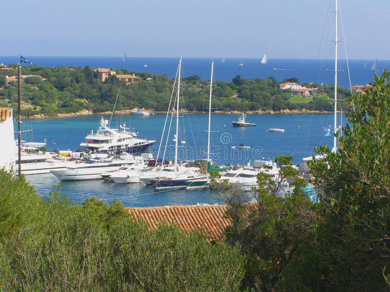 Porto Cervo in Sardinia - Italy stock photos