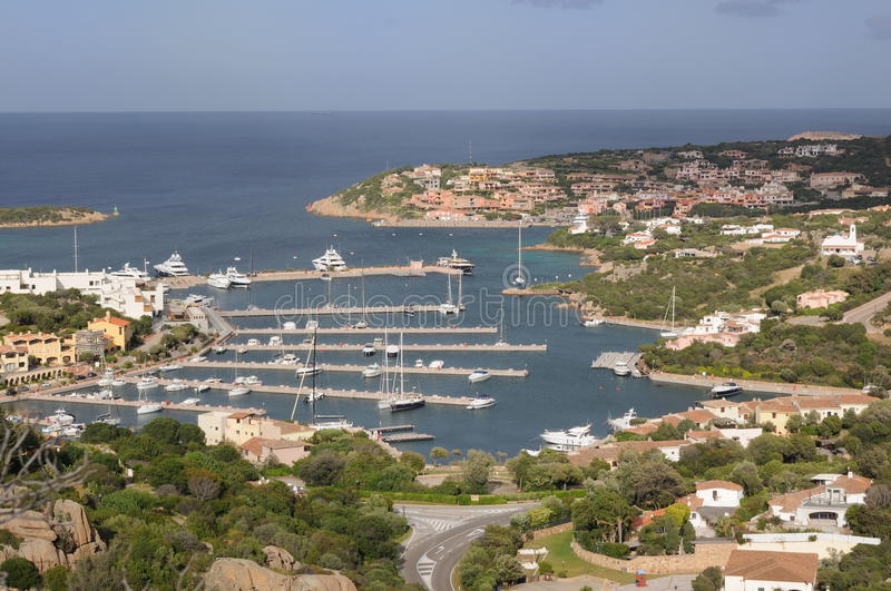Porto Cervo stock image. Image of costa, port, boat, villa ...