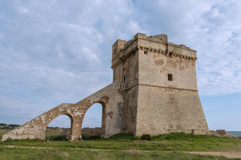 Porto Cesareo i Puglia, Italien royaltyfri bild