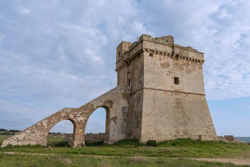 Porto Cesareo in Puglia, Italië royalty-vrije stock afbeelding