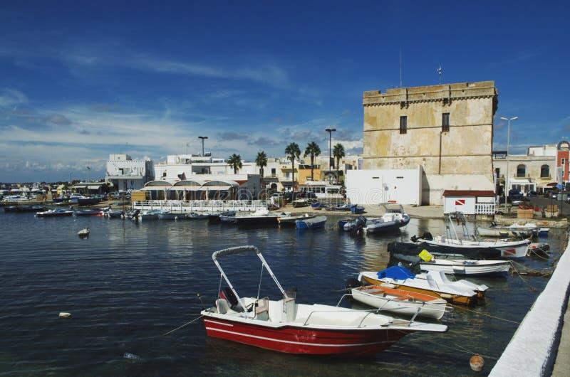 Porto Cesareo, Salento, Italien royaltyfri foto